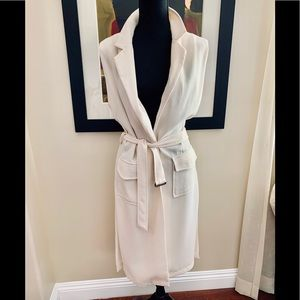 Jackets & Blazers - Bishop and Young Ivory trench vest M